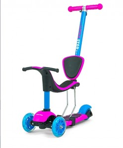 2w1 HULAJNOGA + ROWEREK Scooter Little Star Pink-Blue