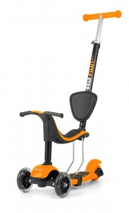 2w1 HULAJNOGA + ROWEREK Scooter Little Star Orange